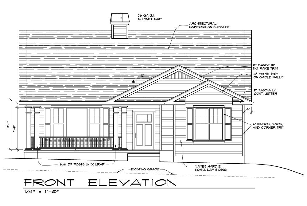 Front Elevation Pdf : Creek mont drive pacific trend building and